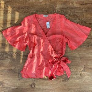 Loft Outlet Women's Large Wrap Blouse